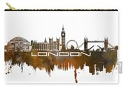 London Skyline City Brown Carry-all Pouch