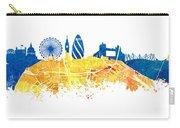 London Skyline Map City London Eye Carry-all Pouch
