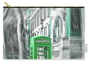 London Telephone Green Carry-all Pouch