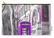 London Telephone Purple Carry-all Pouch