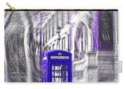 London Telephone Purple Blue Carry-all Pouch