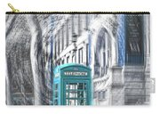 London Telephone Turquoise Carry-all Pouch