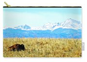 Lone Buffalo Watching The Rocky Mountains Carry-all Pouch