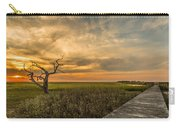 Lone Cedar Dock Sunset - Dewees Island Carry-all Pouch