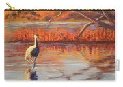 Lone Crane Still Water Carry-all Pouch