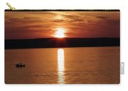 Lone Fisherman At Sunset Carry-all Pouch