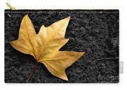 Lone Leaf Carry-all Pouch by Carlos Caetano