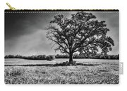 Lone Oak Tree In Black And White Carry-all Pouch