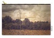 Lone Telephone Pole In Autumn Field Carry-all Pouch