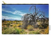 Lone Tree In Blooming Desert Carry-all Pouch