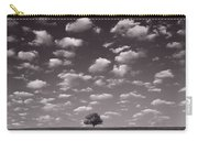 Lone Tree Morning In B And W Carry-all Pouch