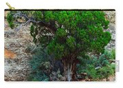 Lone Tree On A Cliff Carry-all Pouch