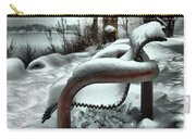 Lonely Bench In Snowfall Carry-all Pouch