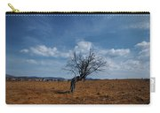 Lonely Dry Tree In A Field Carry-all Pouch