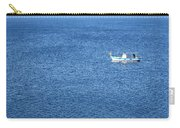 Lonely Fishing Boat Sailing On A Calm Blue Sea Carry-all Pouch