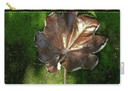 Lonely Leaf On Moss Carry-all Pouch