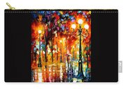 Lonely Night 3 - Palette Knife Oil Painting On Canvas By Leonid Afremov Carry-all Pouch