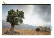 Lonely Olive Tree And Stormy Cloudy Sky Carry-all Pouch