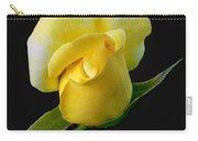 Lonely Teardrop Yellow Rose Bud Carry-all Pouch