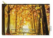 Long Before Winter - Palette Knife Oil Painting On Canvas By Leonid Afremov Carry-all Pouch