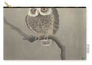 Long-eared Owl On Bare Tree Branch, Ohara Koson, 1900 - 1930 Carry-all Pouch