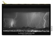 Long Exposure - Bw Poster Carry-all Pouch