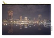 Long Exposure Of The Colorful Baltimore Skyline Carry-all Pouch