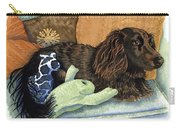 Long-haired Dachshund Watercolor Carry-all Pouch