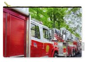 Long Line Of Fire Trucks Carry-all Pouch