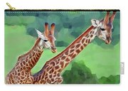 Long Necked Giraffes 2 Carry-all Pouch