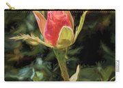 Long Stemmed Rose Carry-all Pouch