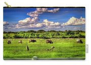 Longhorns At The Ranch Carry-all Pouch