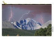 Longs Peak Lightning Storm Fine Art Photography Print Carry-all Pouch
