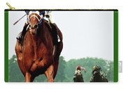 Looking Back, 1 1/2 Mile Belmont Stakes Secretariat 06/09/73 Time 2 24 - Painting Carry-all Pouch
