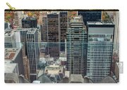 Looking Down At New York Central Park Surounded By Buildings Carry-all Pouch