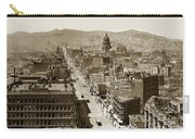 Looking Up Market Street From The Call Building With City Hall Circa 1900 Carry-all Pouch
