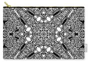 Loops Black And White No. 1 Carry-all Pouch