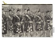 Lord Archibald Campbell And His Pipers Marching Through The Pass Of Glencoe Carry-all Pouch