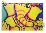 Lord Ganesh By  Sarada Tewari Acrylic Paint On Canvas 24x28inch Carry-all Pouch