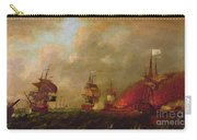 Lord Howe And The Comte Destaing Off Rhode Island Carry-all Pouch by Robert Wilkins