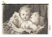 Lorenz Frolich Danish, Copenhagen 1820-1908 Hellerup, Child In A Crib Carry-all Pouch