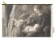 Lorenz Frolich Danish, Copenhagen 1820-1908 Hellerup, The Young Family Carry-all Pouch