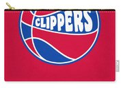 Los Angeles Clippers Vintage Basketball Art Carry-all Pouch