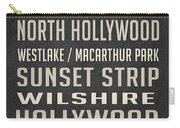 Los Angeles Vintage Places Poster Carry-all Pouch