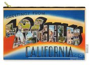 Los Angeles Vintage Travel Postcard Restored Carry-all Pouch