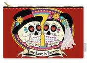 Los Novios Sugar Skulls Carry-all Pouch by Tammy Wetzel