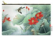 Lotus And Kingfisher Carry-all Pouch