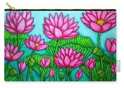 Lotus Bliss II Carry-all Pouch by Lisa  Lorenz