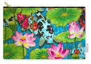 Lotus  Flower  And  Koi Fish Carry-all Pouch