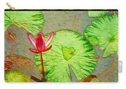 Lotus Flower Bloom In Pink 1 Carry-all Pouch